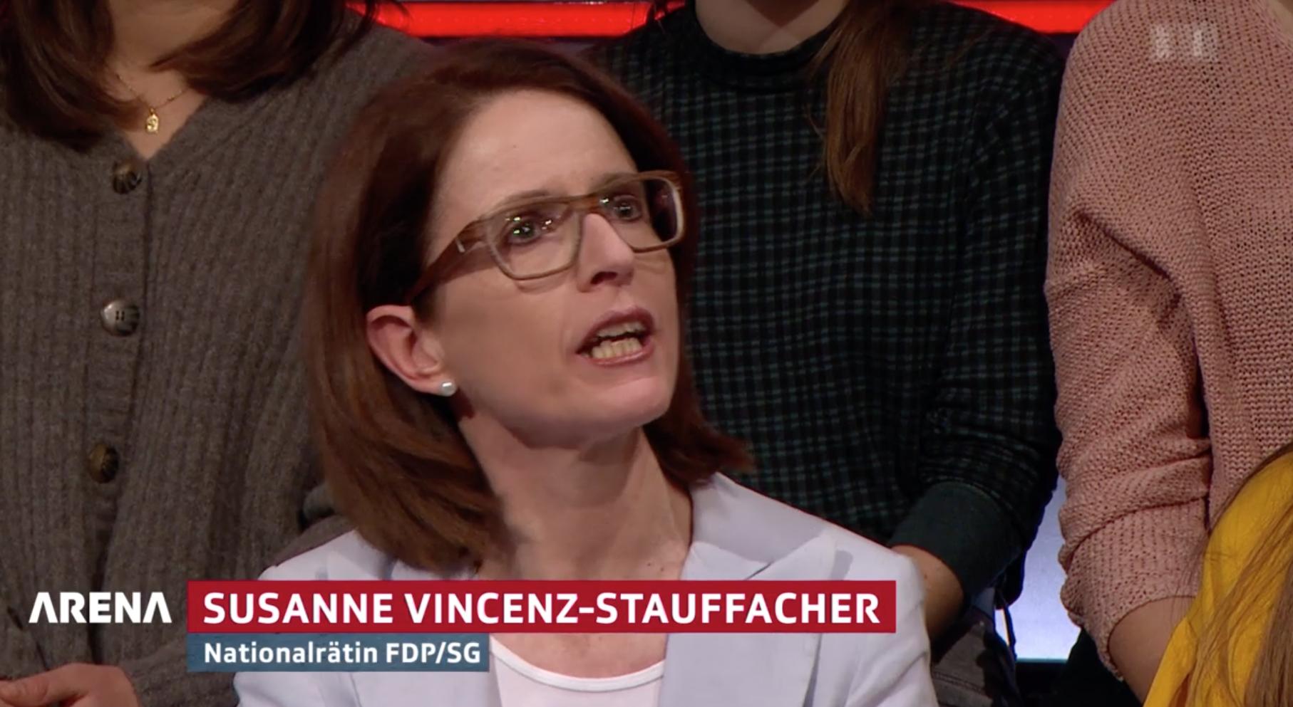 Susanne Vincenz-Stauffacher in der Arena vom 13.12.2019