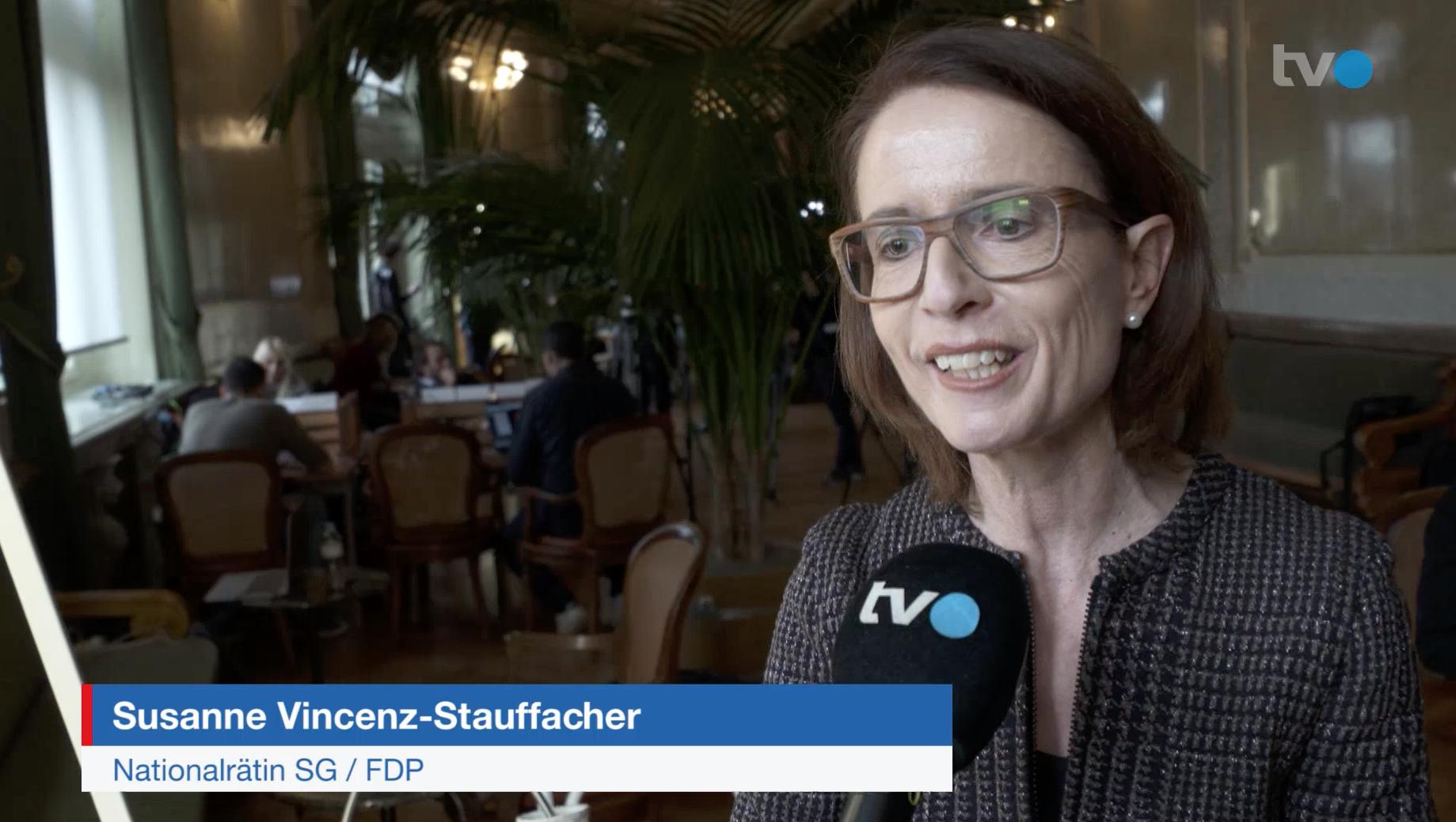 Susanne Vincenz-Stauffacher im TVO am 11.12.2019
