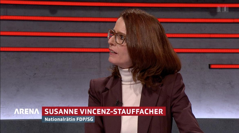 Susanne Vincenz-Stauffacher in der Arena vom 29. Januar 2021