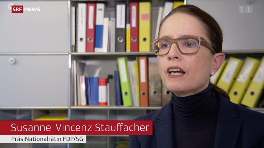 Susanne Vincenz-Stauffacher im 10vor10 am 7. Oktober 2021